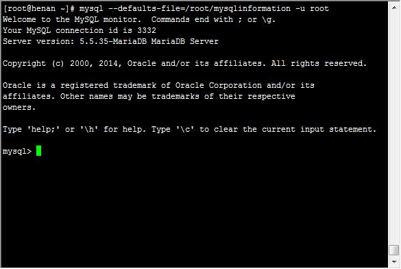 Defaults file