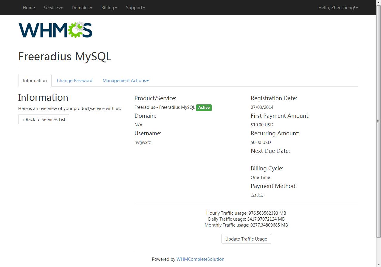 Freeradius MySQL