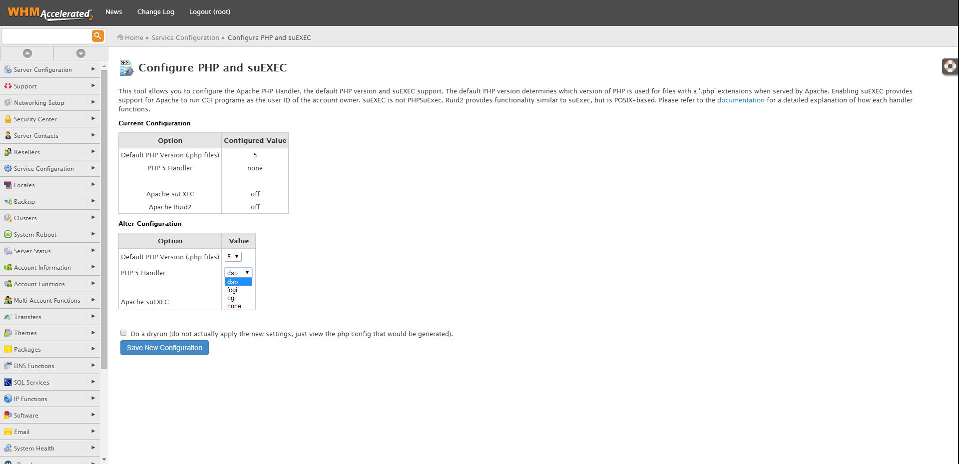 Configure PHP and suEXEC